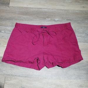 Gap Maroon drawstring shorts sz 12
